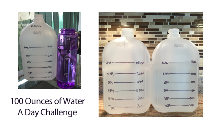 100 Ounces A Day Water Challenge Leggings And Lattes